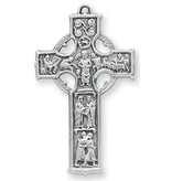 "HMH Religious Mfg 1 5/8"" Sterling Silver Celtic Cross with 24"" Chain"