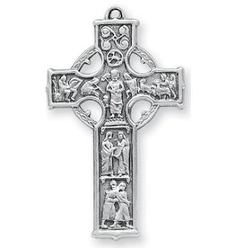 "1 5/8"" Sterling Silver Celtic Cross with 24"" Chain"