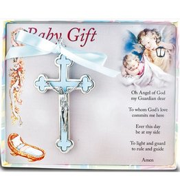 William J. Hirten Co., LLC BLUE NICKEL BOUND BABY CRUCIFIX