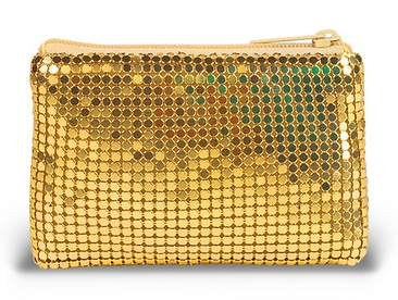 GOLD MESH ROSARY POUCH