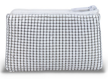 WHITE MESH ROSARY POUCH