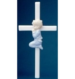 "7.5"" PRAYING BOY CROSS"