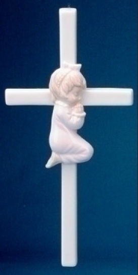 "7.5"" PRAYING GIRL CROSS"