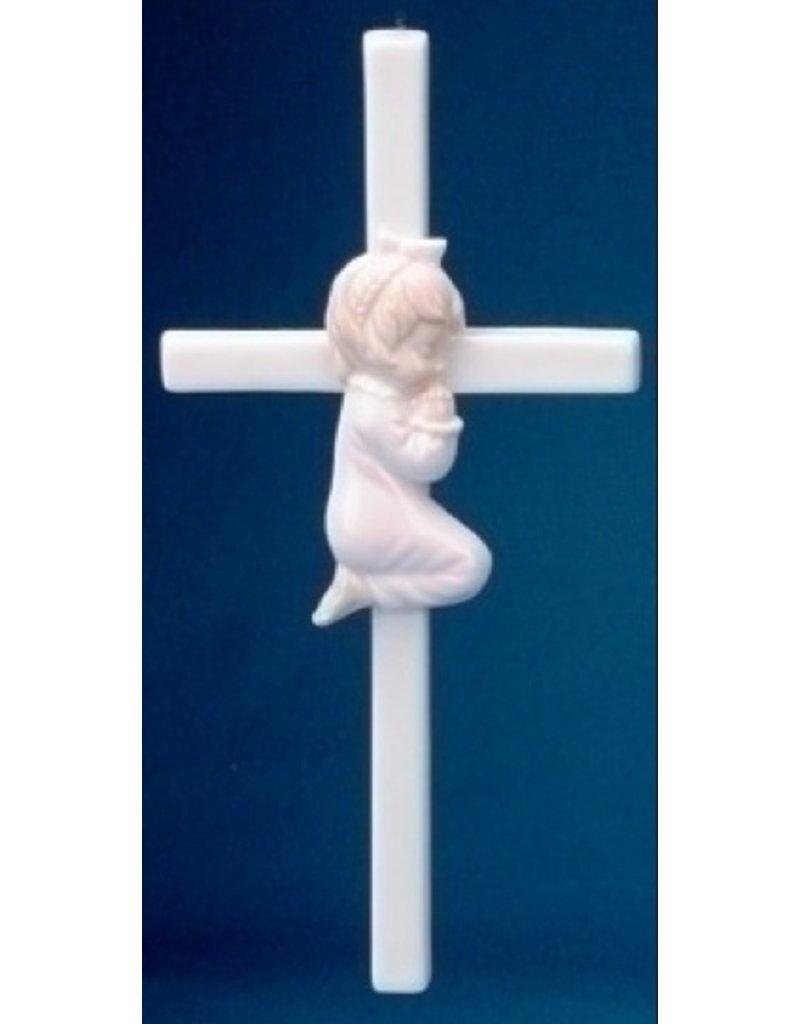 """7.5"""" PRAYING GIRL CROSS"""