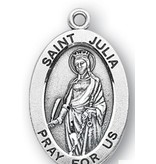 """HMH Religious Mfg 1 1/16"""" Sterling Silver Oval Medal"""