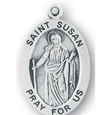 "1 1/16"" Sterling Silver Oval Medal"