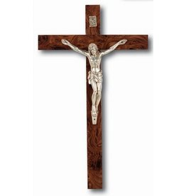 "William J. Hirten Co., LLC 10"" ITALIAN BURLWOOD CRUCIFIX"