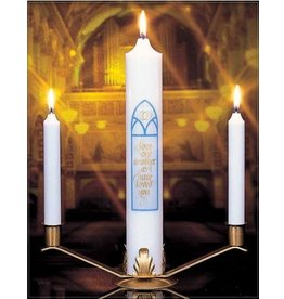 Cathedral Candle Company Abiding Love Wedding Ensemble (Complete Set With Stand)