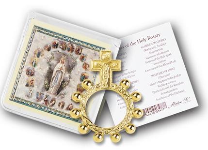 CRUCIFIX ROSARY RING AND PRAYER