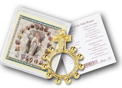 William J. Hirten Co., LLC CRUCIFIX ROSARY RING AND PRAYER