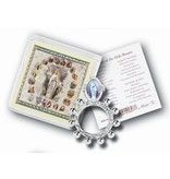 OUR LADY OF LOURDES ROSARY RING AND PRAYER CARD