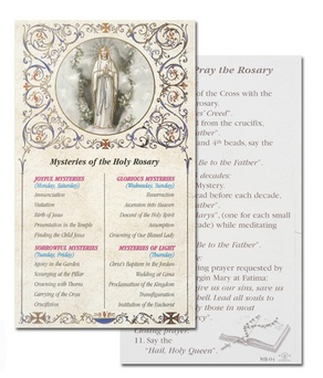 MYSTERIES / how to pray the rosary paper card