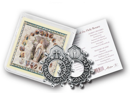 Ave Maria Rosary Ring with Prayer Card