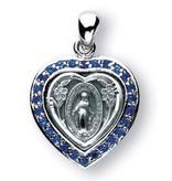 "HMH Religious Mfg Miraculous Heart / Sapphire 3/4"""