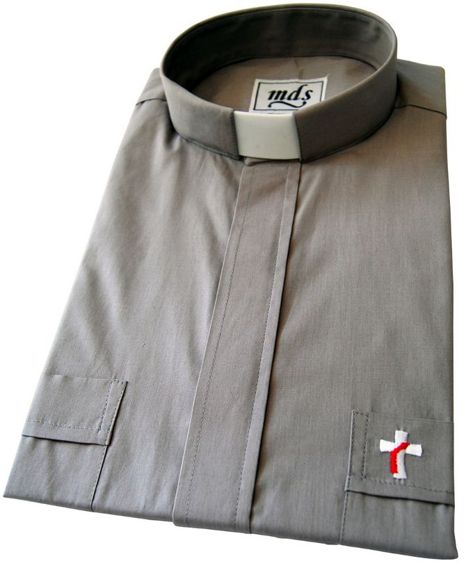 Deacon Shirt (#7400) in Gray (Short Sleeved)