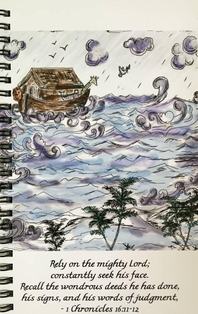 Journal with JSG custom art - Noah's Ark
