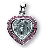 "HMH Religious Mfg Miraculous Heart / Pink 3/4"""