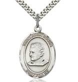"Sterling Silver St. John Bosco Pendant (1"" x 3/4"")"