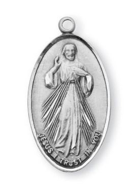 HMH Religious Mfg Divine Mercy/Saint Faustina Sterling Silver Medal