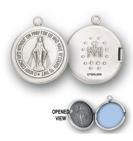 HMH Religious Mfg Sterling Silver Miraculous Medal Locket