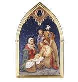 William J. Hirten Co., LLC CHRISTMAS PLAQUE WITH NATIVITY SCENE AND ANGEL