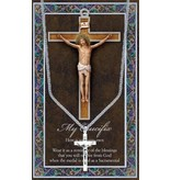 GENUINE PEWTER CRUCIFIX MEDAL