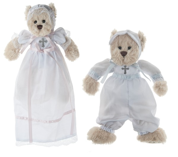 "8"" MINI CHRISTENING BEAR - BOY"