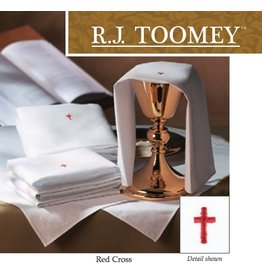 "Red Cross Chalice Pall with Insert (7"" Square)"