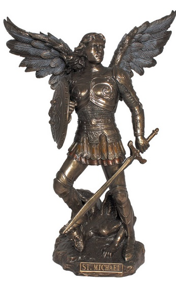Archangel Michael, cold cast bronze, 9inches