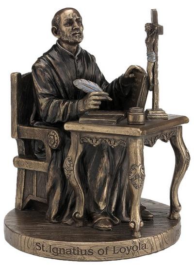 St. Ignatius-Loyola Statue, Cold-cast Bronze, 6.5 inches