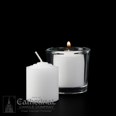 10-hour straight side votive lights (box of 72)