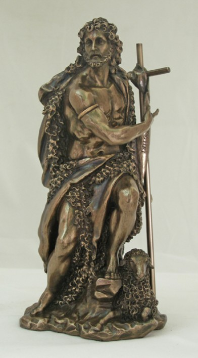 St. John the Baptist, Cold-Cast Bronze, 9.5inches