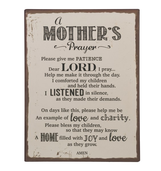 Plaque: Mother's Prayer