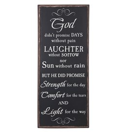 Ganz Plaque: God Didn't Promise Days Without Pain