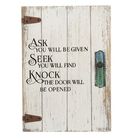 Ganz Door Plaque: Ask and you will be given
