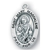"""7/8"""" Sterling Silver Oval Medal"""