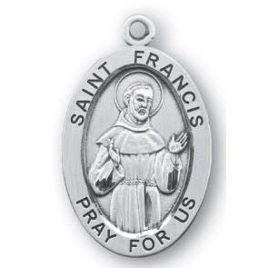 """1 1/4"""" Sterling Silver Oval Medal"""