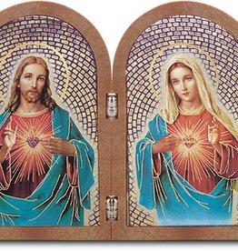 The Sacred Hearts Bi-Fold Plaque
