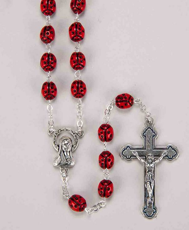 "William J. Hirten Co., LLC 7MM METAL ""OUR LADY'S BUG"" ROSARY WITH CROSS AND CENTER"