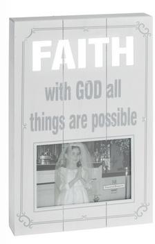 "Ganz Faith Laser Cut Plaque Frame (holds 4""x6"")"