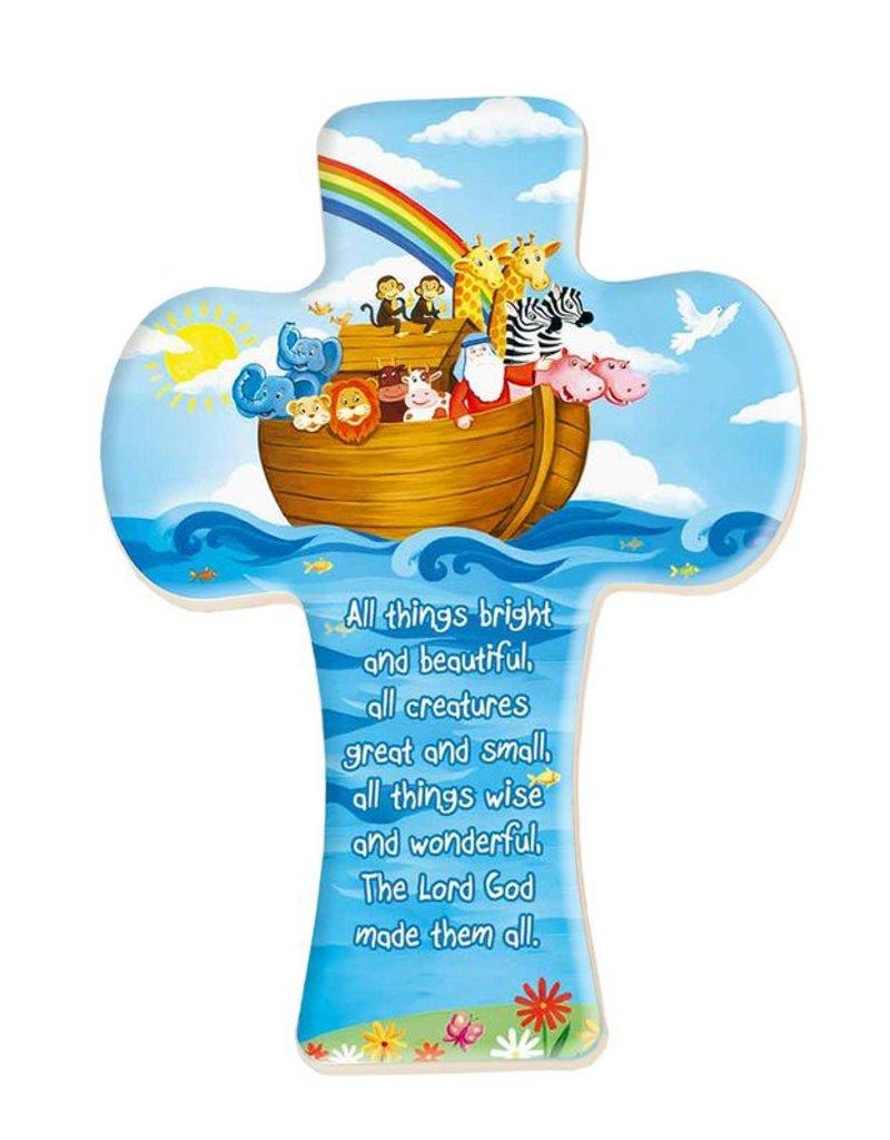 "CHILD NOAH'S ARK CROSS 5 1/2"" CROSS"