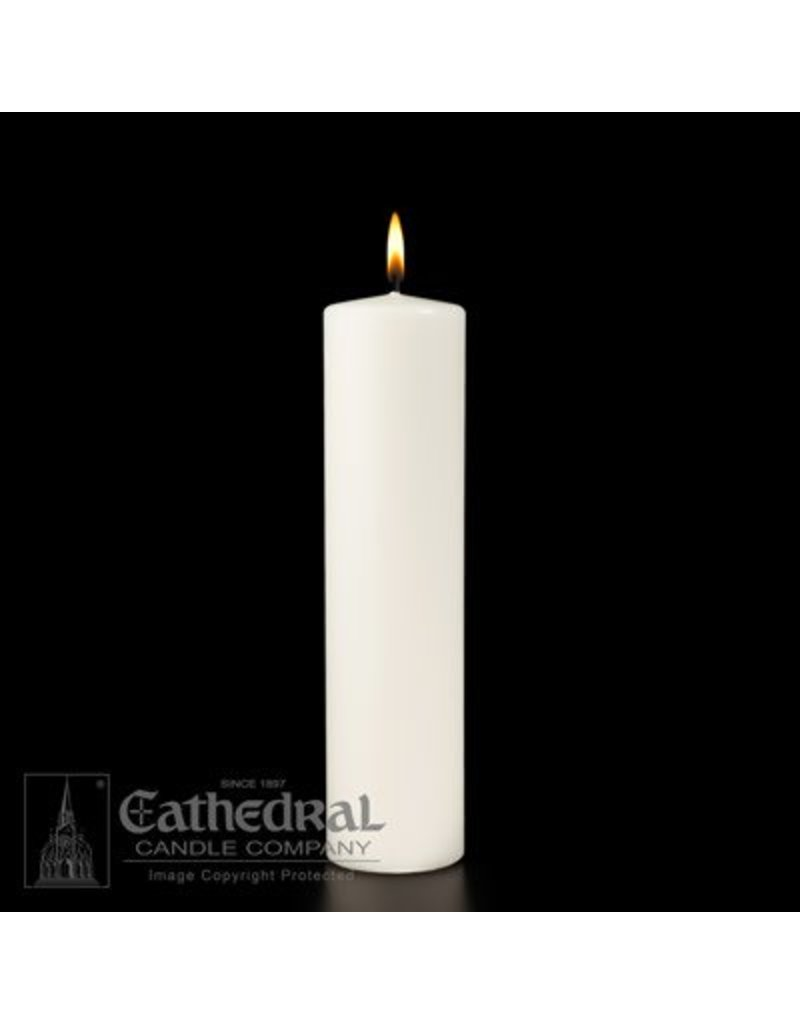 Cathedral Candle Company Ceremonial Pillar - White Stearine 3x12