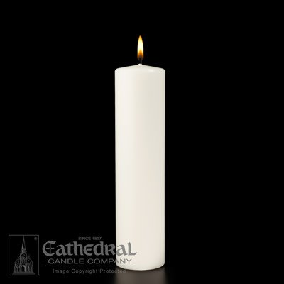 Ceremonial Pillar - White Stearine 3x12