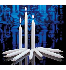 "Congregational Candles (size 24s; 17/32"" x 5 1/4""; white with white drip cards;100 per box)"