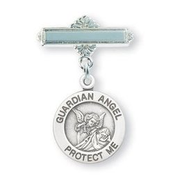 HMH Religious Mfg Sterling Silver Baby Guardian Angel Pin
