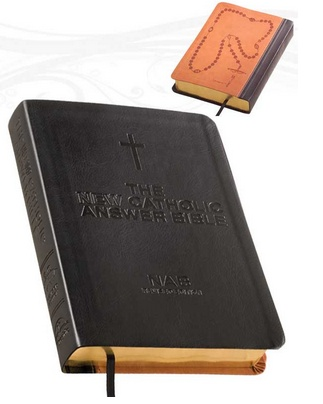 The NEW Catholic Answer Bible Librosario NABRE (Black) LARGE PRINT