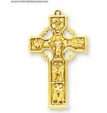 Gold Over Sterling Silver Celtic Cross