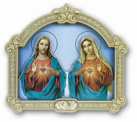 Sacred Heart / Immaculate Heart Plaque