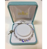 HMH Religious Mfg 6mm Swarovski Crystal Butterfly Rosary Bracelet