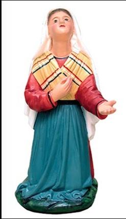 """St. Bernadette Statue (made in Peru) - 10"""""""